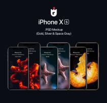 iPhone Xs PSD 样机素材 – 手机模型免费下载