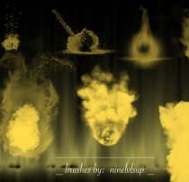 火焰、焰火图案Photoshop笔刷素材下载