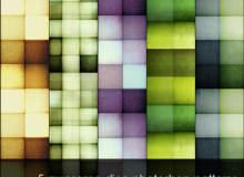 5种复古方块、格子纹理PS填充底纹素材下载