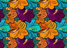 华丽的鲜花花朵图案Photoshop填充背景素材下载