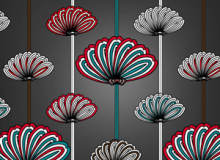 蒲公英风格的花纹背景图案PS填充纹理素材