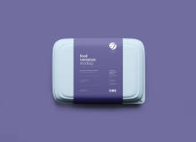 塑料餐盒、食品盒子模型 – PSD源文件下载