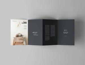 四折页宣传广告手册模版 – 免费PSD模版下载