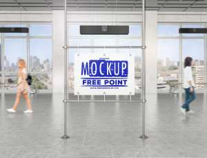 户外广告牌展示背景模版 – PSD素材免费下载