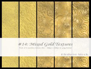 5种金属纹理、黄金表层材质PS背景金属纹理笔刷素材下载(JPG格式)