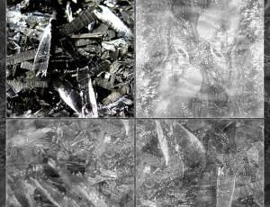 金属冰晶纹理效果PS材质纹理笔刷(JPG格式素材)