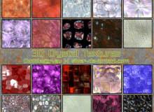 30种水晶、晶体结构纹理PS材质笔刷素材(JPG格式素材免费下载)