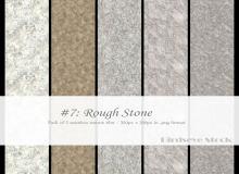 5种粗糙的岩石纹理、石头、石头材质贴图PS笔刷素材(JPG格式)