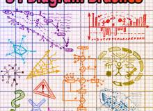54种可爱学生时代手绘涂鸦Photoshop笔刷素材下载