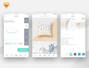 购物App设计理念 –  Sketch UI 设计素材免费下载