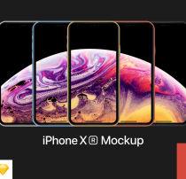 适用于最新的 iPhone XR 样机素材 –  Sketch 手机模型素材下载