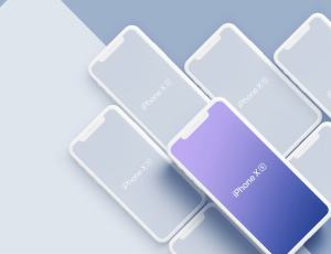 iPhone XS、iPhone XS Max Mockups 样机素材模型 –  Sketch 模板设计素材下载