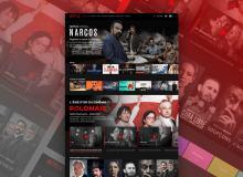 Netflix 网站桌面版UI 素材免费 –  Sketch Web模板下载