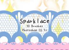 30种蕾丝纹理印花图案Photoshop笔刷下载