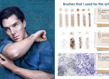 皮肤、花卉、布料褶皱等效果Photoshop复合用笔刷素材打包下载