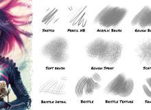 插画、漫画专用sut笔刷CLIP STUDIO PAINT 画笔下载