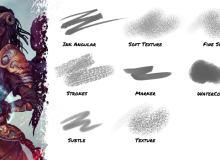 数字插画专用 sut笔刷画笔素材免费下载