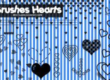 爱心、心形符号图案Photoshop热恋笔刷素材下载