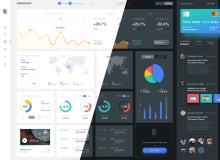 数据统计UI设计素材 – Sketch 设计素材