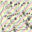 涂鸦童趣鲜花花朵图案Photoshop笔刷素材下载