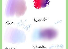 定制的插画绘画笔触类SAI画笔PaintTool SAI笔刷素材下载