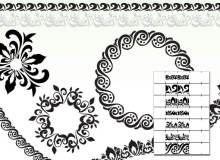 华丽的印花花纹边界图案 Illustrator笔刷/Ai画笔