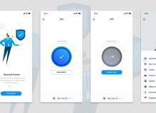 一款简洁高效的V(P)N界面设计素材 Sketch App模板下载