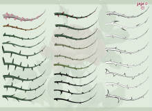 35种藤蔓荆棘图案Illustrator笔刷/Ai画笔素材下载