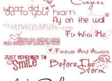 手绘时尚歌词文字装扮Photoshop笔刷素材