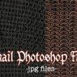 4种锁子甲、链甲纹理图案PS笔刷素材(JPG格式)
