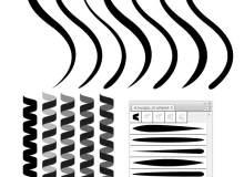 Illustrator弯曲线条笔刷、Ai画笔