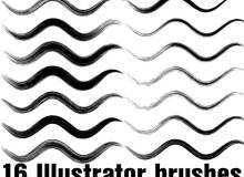 16种免费的画笔笔触效果Illustrator笔刷素材免费下载