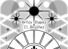 21种矢量图像风格装饰饰品Photoshop笔刷素材下载