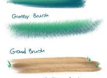 免费青草、草坪、植物叶子笔触素材 CSP画笔SUT笔刷下载