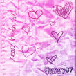 手绘涂鸦式爱心、心形图案PS恋爱笔刷素材