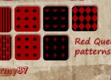 梅花、红桃、方块等纹理图案PS填充素材下载