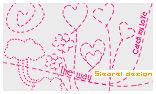 手绘点划线爱心花纹图案PS印花笔刷下载