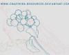 植物花纹图案轮廓印花素材PS笔刷下载