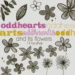 19种手绘涂鸦花纹、鲜花花朵、植物叶子图案Photoshop笔刷下载