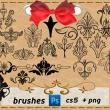 漂亮的手绘欧式富贵印花图案Photoshop艺术花纹笔刷