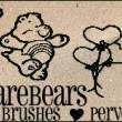22种可爱熊宝宝图案Photoshop卡通熊笔刷素材下载