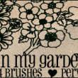 手绘式鲜花花纹线框图案Photoshop笔刷下载