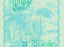 21种复古西式植物花纹图案艺术PS笔刷下载