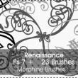 23种优雅的线条艺术花纹图案Photoshop笔刷下载
