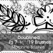 19种手绘简单的印花图案Photoshop笔刷素材下载
