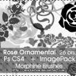 26种玫瑰花花纹图案、鲜花花朵印花Photoshop笔刷下载