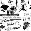 博士帽子、手表图案、毕业生等Photoshop装饰笔刷