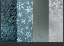 8冰层、霜冻、冰晶纹理效果Photoshop背景纹理笔刷(JPG图片格式素材)