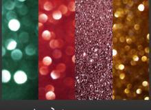 6种圣诞节背景装饰PS笔刷素材(JPG图片格式)