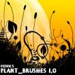 手绘艺术线条植物花纹图案Photoshop笔刷下载
